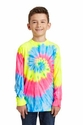 Port & Co Youth Essential Tie-Dye Long Sleeve Tee
