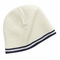 Port & Company Beanie: Fine Knit Skull Cap with Stripes (CP93)