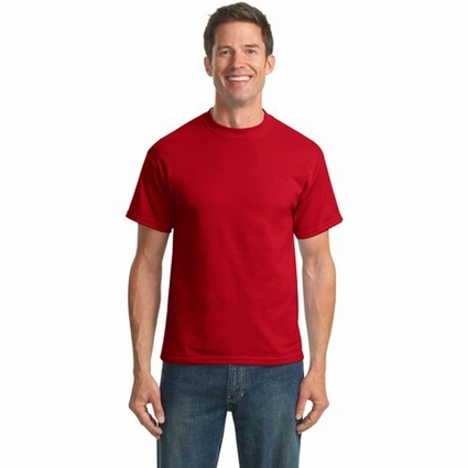 Port & Company Men's T-Shirt: 50/50 Cotton/Poly (PC55)