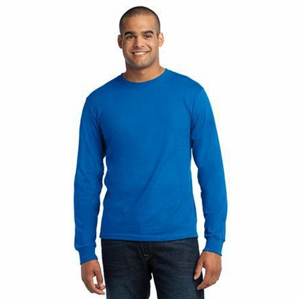 Port & Company Men's T-Shirt: American Made Long Sleeve Crewneck(USA100LS)