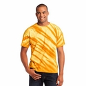 Port & Company Men's T-Shirt: Essential Tiger Stripe Tie-Dye(PC148)