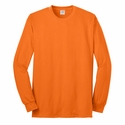 Port & Company® Men's Tall Long Sleeve 50/50 Cotton/Poly T-Shirt: (PC55LST)