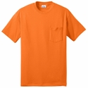 Port & Company® Men's  Tall 50/50 Cotton/Poly T-Shirt with Pocket : (PC55PT)