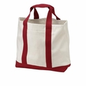 Port & Company Tote Bag: 100% Cotton 2-Tone Shopping (B400)