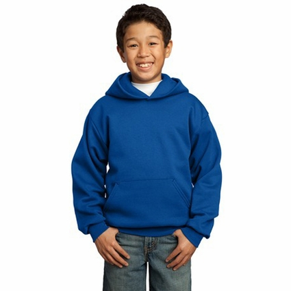 Port & Company Youth Sweatshirt: Pullover Hooded Fleece (PC90YH)