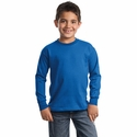 Port & Company Youth T-Shirt: 100% Cotton Long Sleeve Essential (PC61YLS)