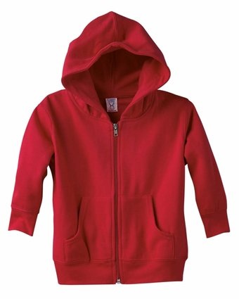 Rabbit Skins Toddler Sweatshirt: Full-Zip Hoodie (3346)