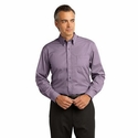 Red House Men's Poplin Shirt: Mini-Check Pattern Button Down(RH66)