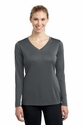 Sport-Tek® Ladies Long Sleeve PosiCharge™ Competitor™ V-Neck Tee