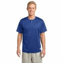 Sport-Tek Men's Henley: Two-Button Tough Mesh(ST215)