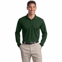 Sport-Tek Men's Polo Shirt: Long Sleeve Micropique Sport-Wick (ST657)