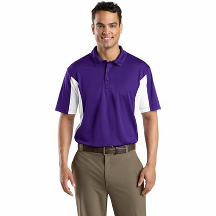 Sport-Tek Men's Polo Shirt: Side Blocked Micropique Sport-Wick (ST655)