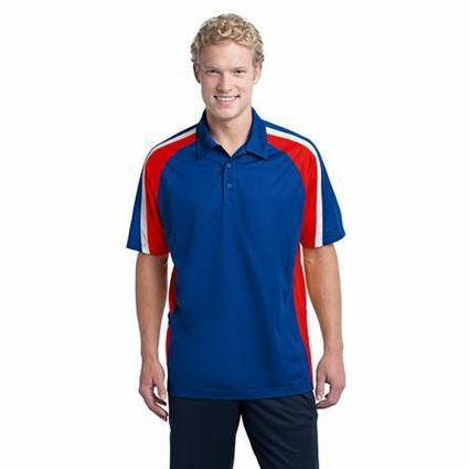 Sport-Tek Men's Polo Shirt: Tri Color Moisture Wicking Micropique(ST654)