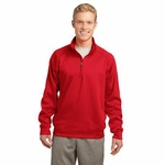 Sport-Tek Men's Sweatshirt: 1/4 Zip Wicking Pullover w/ Left Sleeve Pocket(F247)