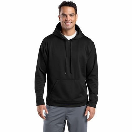 Sport-Tek Men's Sweatshirt: Sport-Wick Fleece Hooded Pullover (F244)