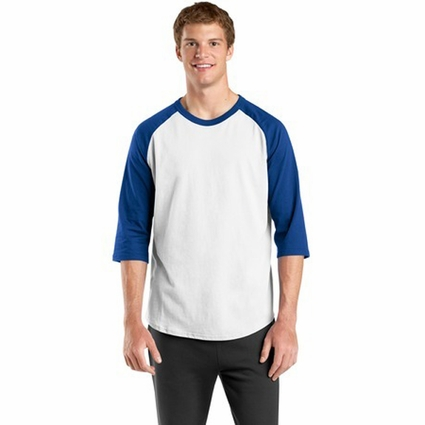 Sport-Tek Men's T-Shirt: 100% Cotton Colorblock Raglan Jersey (T200)