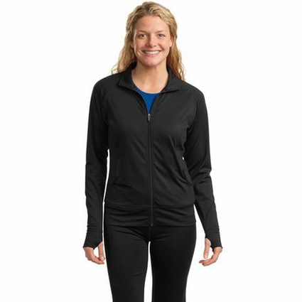 Sport-Tek Women's Fitness Jacket: Full-Zip Tag Free w/ Pockets(LST885)