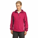 Sport-Tek Women's Jacket: 100% Polyester Colorblock Hooded(LST76)