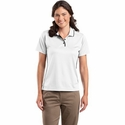 Sport-Tek Women's Polo Shirt: Dri-Mesh with Tipped Collar and Piping (L467)