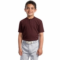 Sport-Tek Youth Henley: Short Sleeve (YT210)