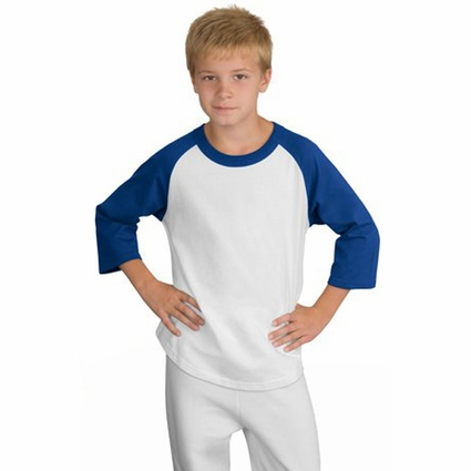 Sport-Tek Youth T-Shirt: 100% Cotton Colorblock Raglan Jersey (YT200)