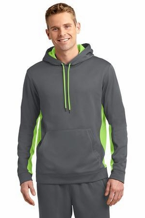 Sport-Wick Fleece Colorblock Hooded Pullover