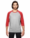 Triblend 3/4-Sleeve Raglan T-Shirt: (6755)