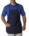 Large 2-Pocket Bib Apron: (8201)
