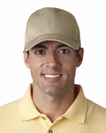 Classic Cut Chino Cotton Twill Constructed Cap: (8101)