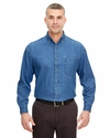 Adult Cypress Denim Shirt with Pocket: (8960)