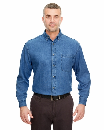 Men's Tall Cypress Denim Shirt with Pocket: (8960T)