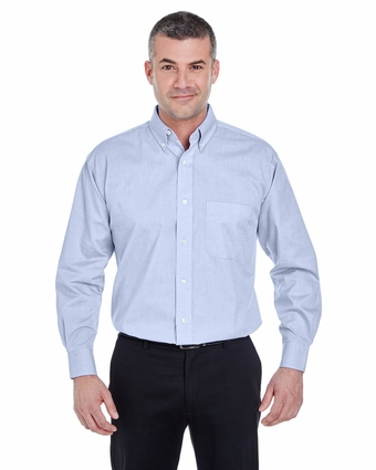 Men's Long-Sleeve Performance Pinpoint: (U8360)