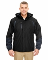 Adult Color Block 3-in-1 Systems Hooded Jacket: (8939)