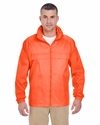 Adult Full-Zip Hooded Pack-Away Jacket: (8929)