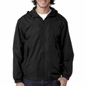 Adult Micro-Poly Full-Zip Hooded Jacket: (8935)