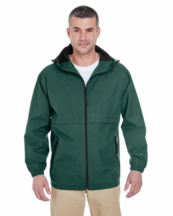 Adult Microfiber Full-Zip Hooded Jacket: (8908)
