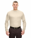 Adult Egyptian Interlock Long-Sleeve Mock Turtleneck: (8510)