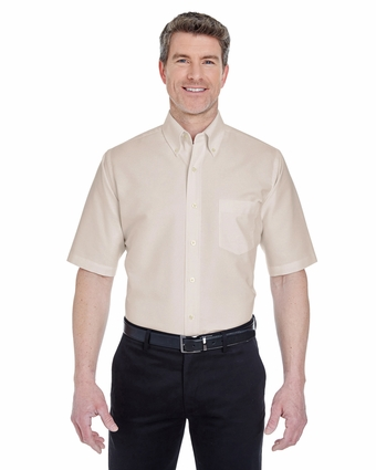 Men's Classic Wrinkle-Resistant Short-Sleeve Oxford: (8972)