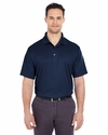 Men's Cool & Dry Elite Mini-Check Jacquard Polo: (8305)