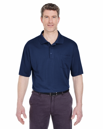 Adult Cool & Dry Sport Polo with Pocket: (8405P)