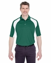 Adult Cool & Dry Sport Performance Color Block Interlock Polo: (8427)
