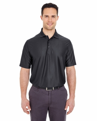 Men's Cool & Dry Elite Tonal Stripe Performance Polo: (8413)