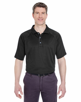 Adult Cool & Dry Sport Shoulder Block Polo: (8409)