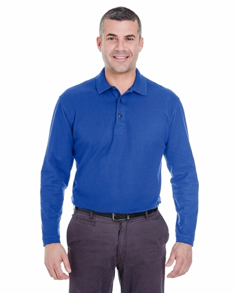 Adult Long-Sleeve Whisper Piqué Polo: (8542)
