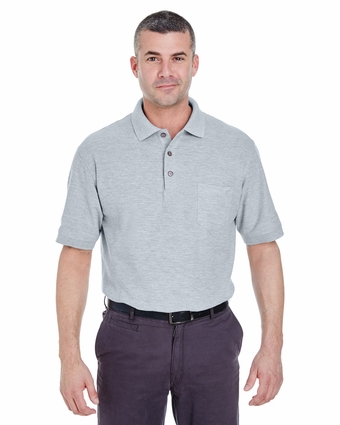 Adult Whisper Piqué Polo with Pocket: (8544)