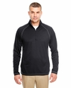 Adult Cool & Dry Sport 1/4-Zip Pullover with Side & Sleeve Panels: (8398)