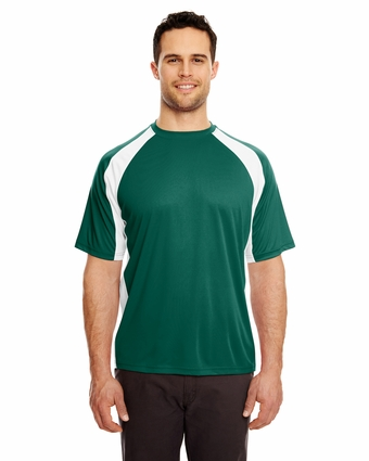 Adult Cool & Dry Sport 2-Tone Performance Interlock Tee: (8421)