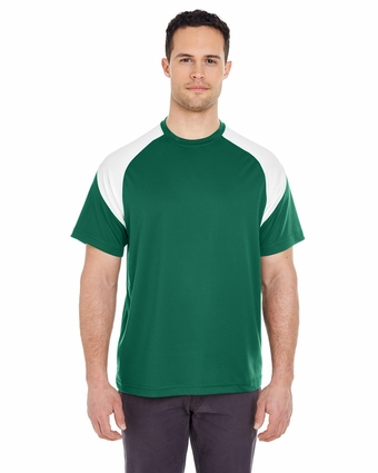 Adult Cool & Dry Sport Color Block Tee: (8399)