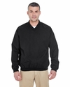 Adult Long-Sleeve Microfiber Crossover V-Neck Windshirt: (8926)