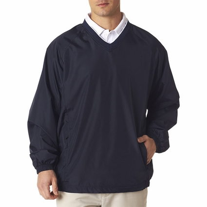 Adult Micro-Poly V-Neck Windshirt: (8937)